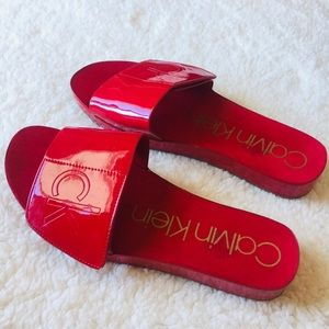 Red Calvin Klein Sandals